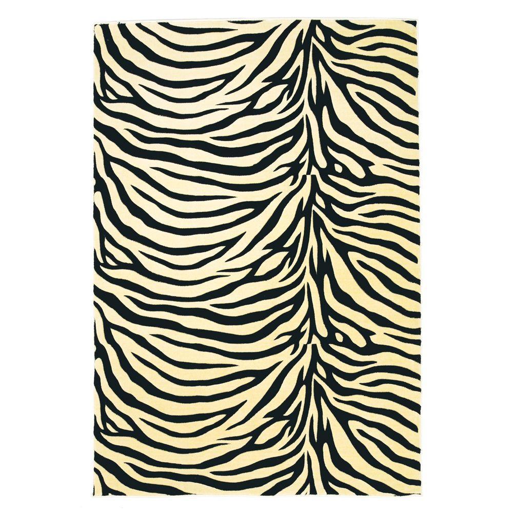 Kas Rugs Zebra Beige 7 ft. 7 in. x 10 ft. 10 in. Area Rug-DISCONTINUED