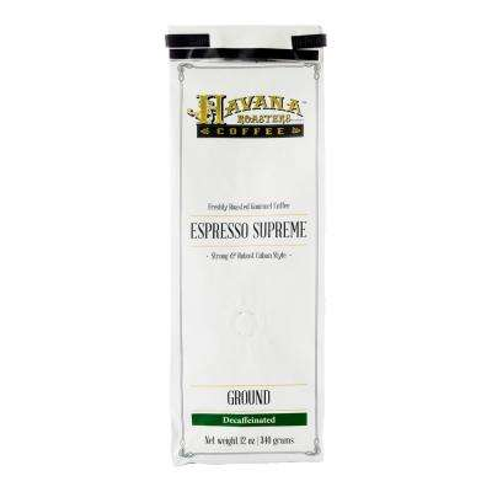 Espresso Supreme DECAF 12 oz. Coffee Bags Coffee Grounds (3-Bags)
