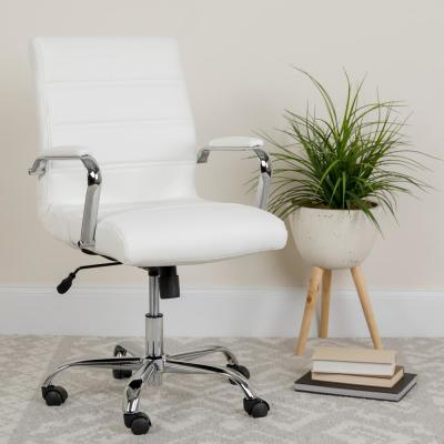 No Additional Features White Office Chairs Home Office Furniture The Home Depot