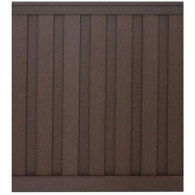 Seclusions 6 ft. x 6 ft. Woodland Brown Wood-Plastic Composite Board-On-Board Privacy Fence Panel Kit