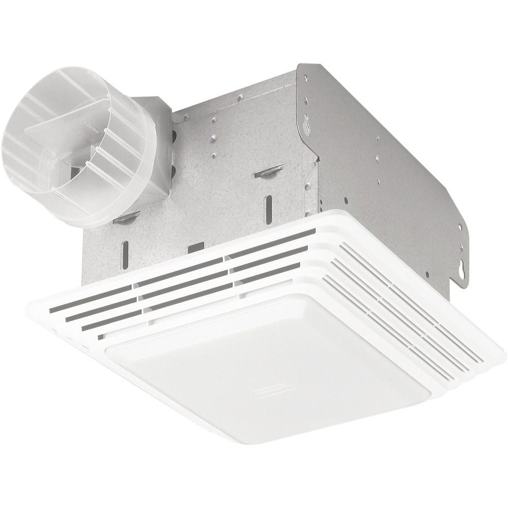 Broan 100 CFM Ceiling Exhaust Fan with Light White Grille 100-Watt Incandescent Bulb