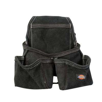 Leather 4-Pocket Construction Tool Pouch / Holder in Black