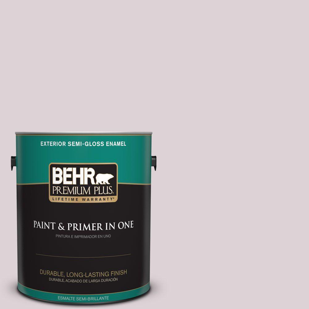 1-gal. #100E-2 Mauve Mist Semi-Gloss Enamel Exterior Paint