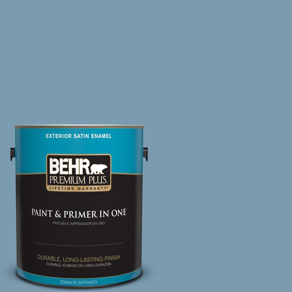 1-gal. #550F-4 Cool Dusk Satin Enamel Exterior Paint