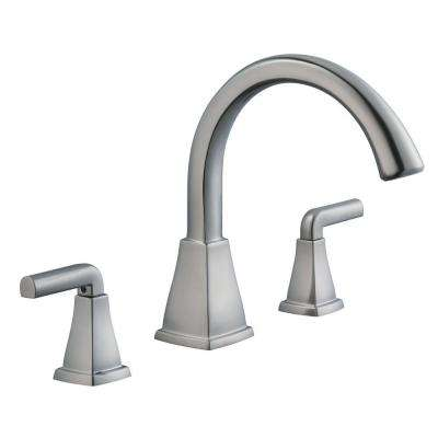 Brookglen 2-Handle Deck-Mount Roman Tub Faucet in Brushed Nickel