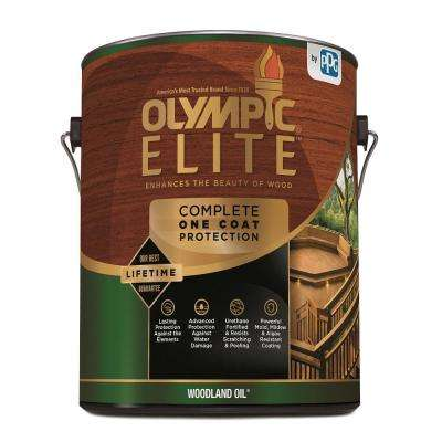 Elite 1 gal. Red Cedar Woodland Oil Advanced Exterior Stain and Sealant in One