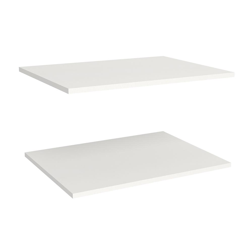 Impressions 2-Shelf 25 in. Laminate Deluxe Extra Shelves in White (2-Pack)