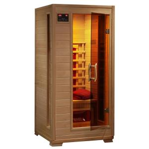 Radiant Sauna 1-2 Person Hemlock Infrared Sauna with 3 Ceramic Heaters by Ceramic Heaters