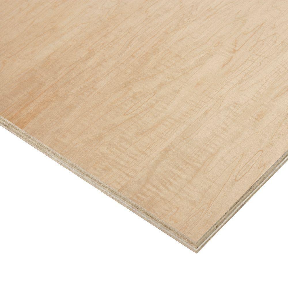 Birch plywood common in ft actual