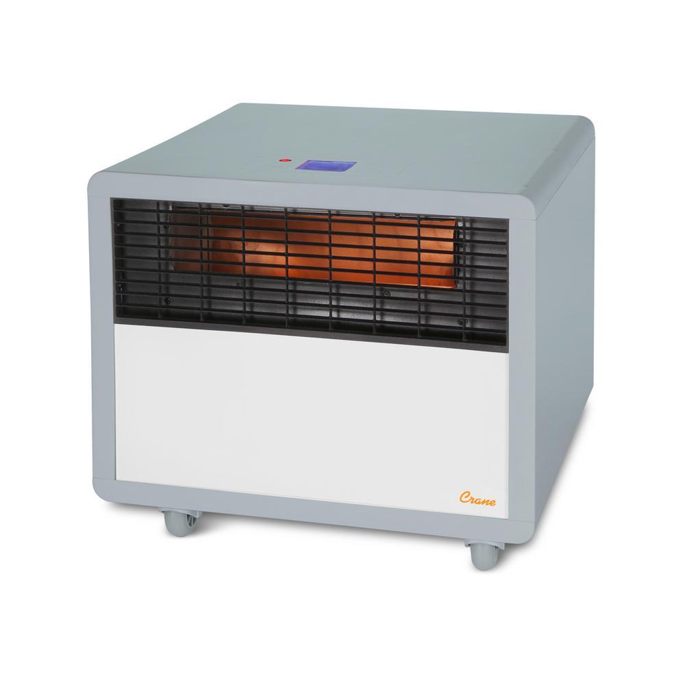 1500-Watt Digital Infrared Portable Space Heater in Grey