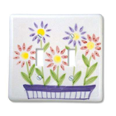 Flower Box 2 Toggle Wall Plate - Multi Color