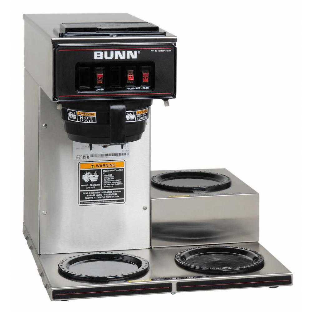 Bunn 12 Cup Pourover Commercial Coffee Brewer With 3 Lower Warmers