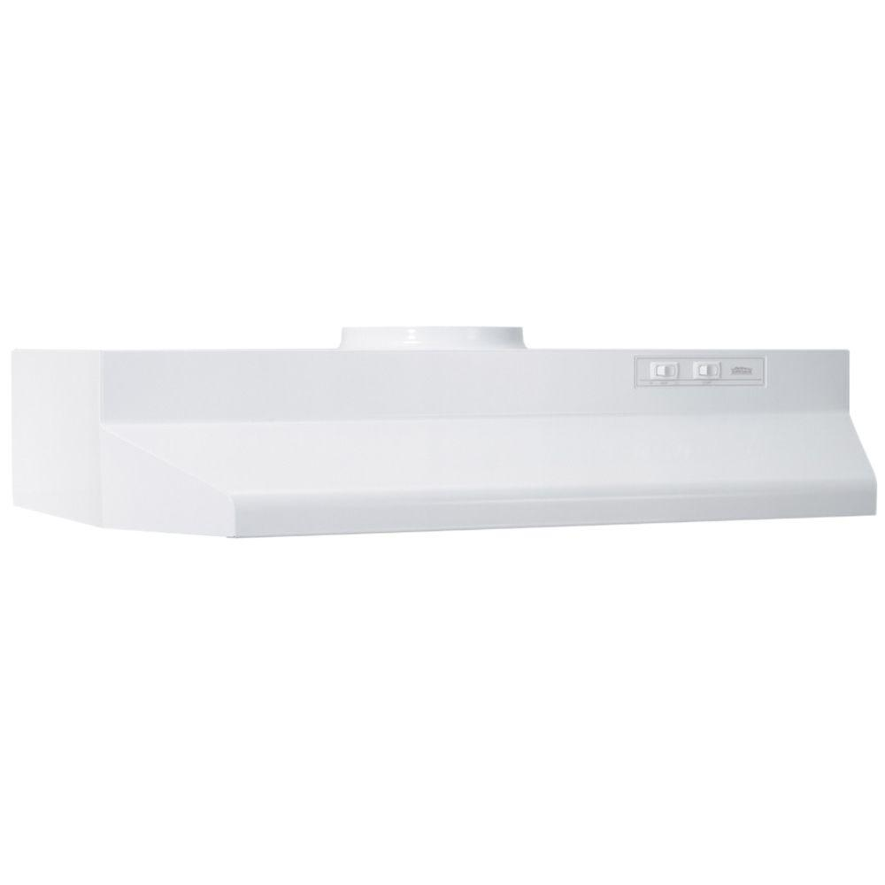 Nice Under Cabinet Range Hood With Light In White