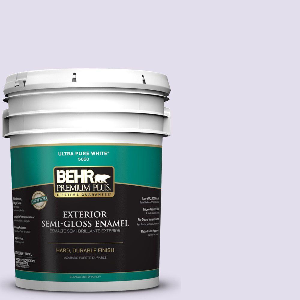5-gal. #M560-1 Sweet Bianca Semi-Gloss Enamel Exterior Paint