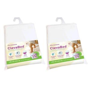 Clevamama ClevaBed Brushed Cotton Waterproof Fitted Mattress Protector - Single Bed... by Clevamama