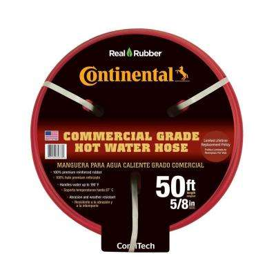 Premium 5/8 in. Dia x 50 ft. Commercial Grade Rubber Red Hot Water Hose