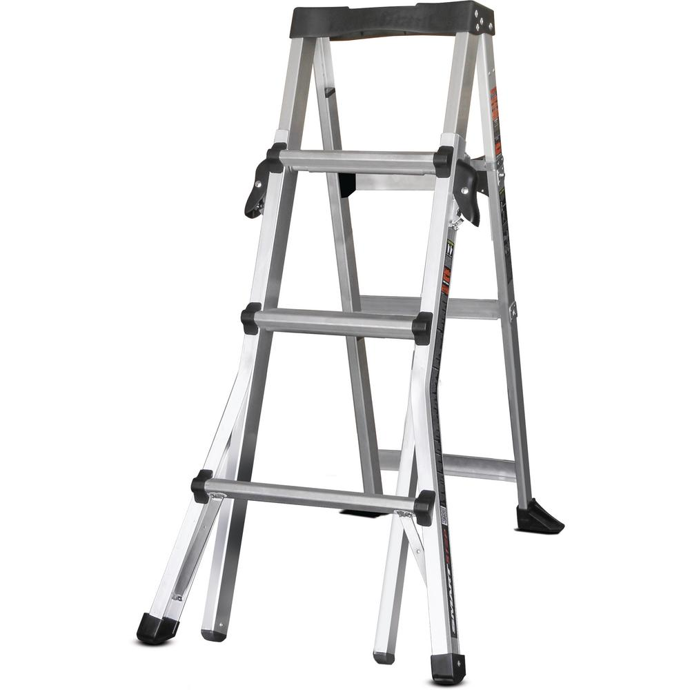 4-6 ft. Aluminum SmartStep Step Ladder with 300 lb. Load Capacity