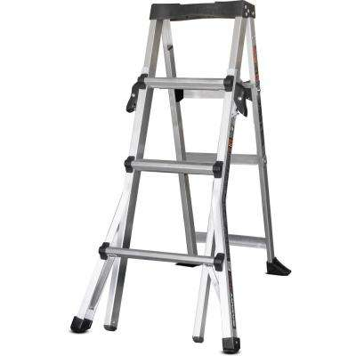 4-6 ft. Aluminum SmartStep Step Ladder with 300 lb. Load Capacity Type IA Duty Rated