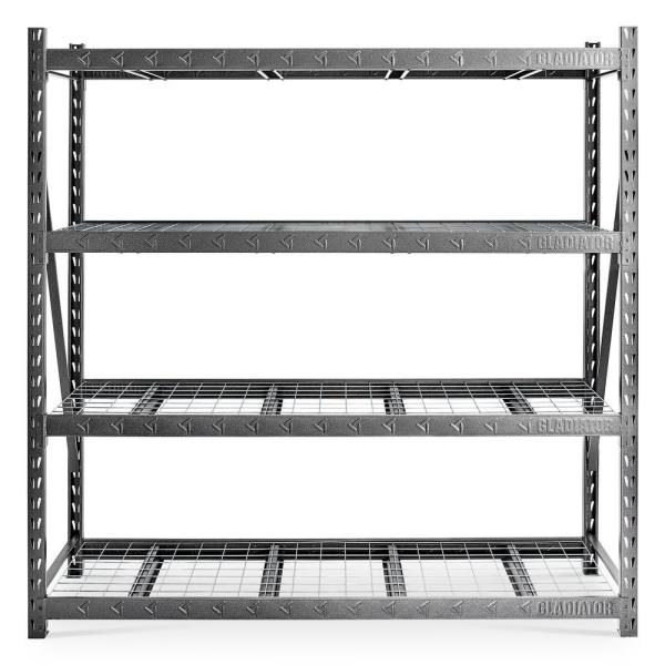 4-Tier Heavy Duty Welded Steel Garage Storage Shelving Unit (90 in. W x 90 in. H x 24 in. D)