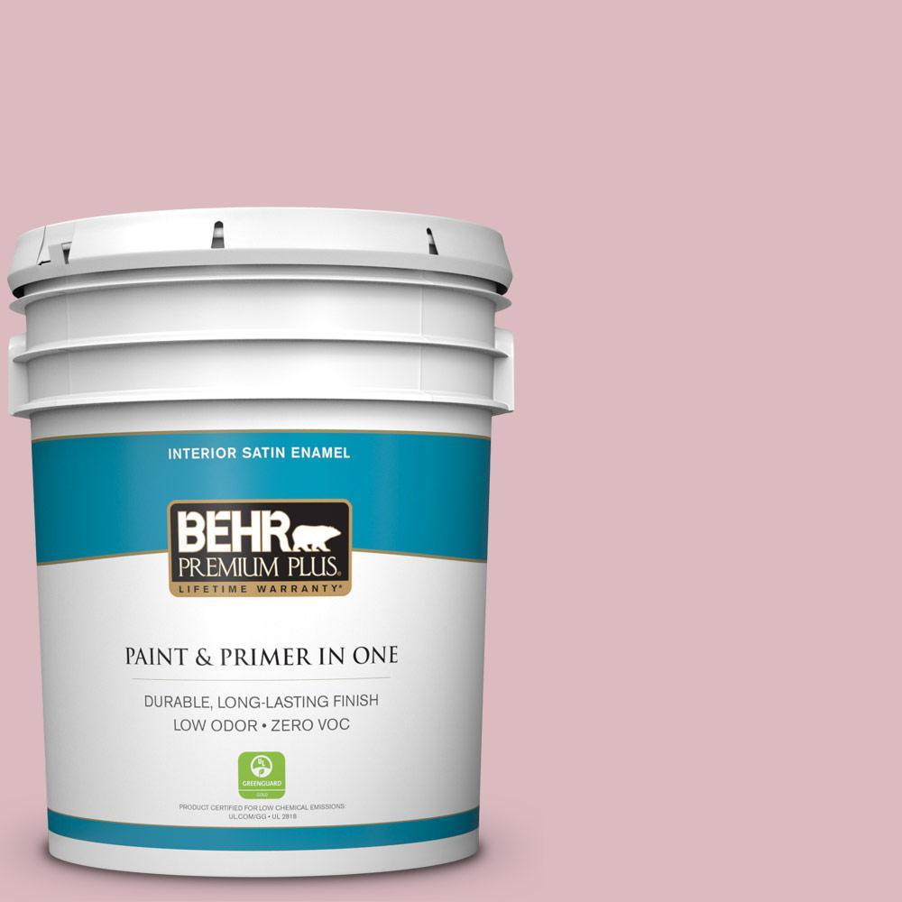 BEHR Premium Plus 5-gal. #S130-2 Shy Smile Satin Enamel Interior Paint