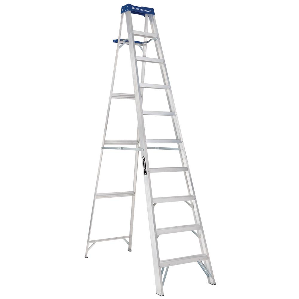 10 ft. Aluminum Step Ladder with 250 lbs. Load Capacity Type