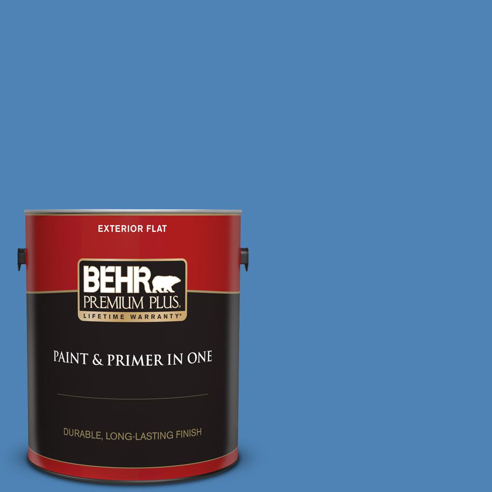 Ppu15 06 Neon Blue Flat Exterior Paint And Primer In One