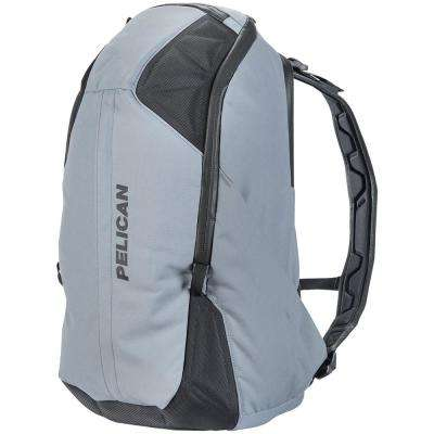 24.41 in. Gray Lightweight Backpack with Water-Resistance