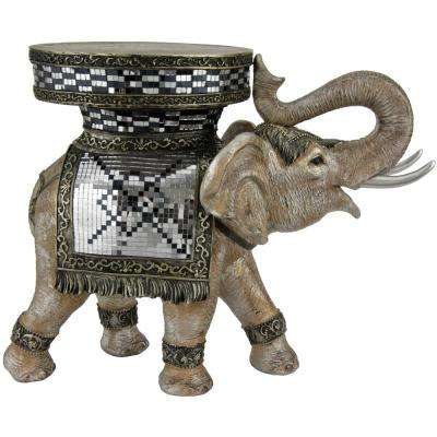 Oriental Furniture 20 in. Standing Elephant Decorative Statue