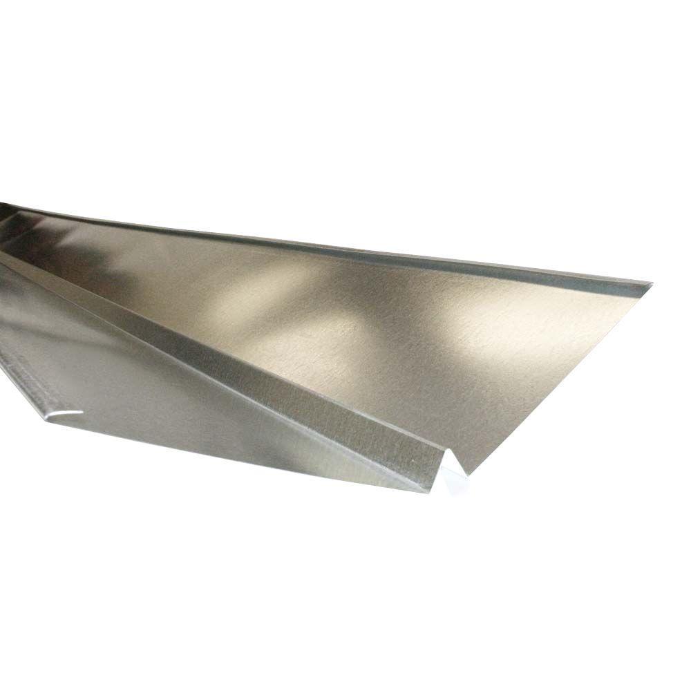 18 in. x 10 ft. 26-Gauge Galvanized Steel W-Valley Flashing