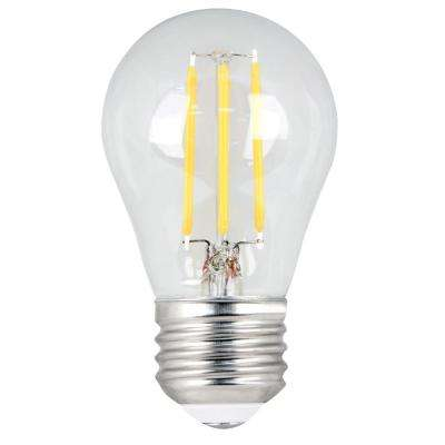 40W Equivalent Daylight A15 Dimmable Clear Filament LED Medium Base Light Bulb (Case of 24)