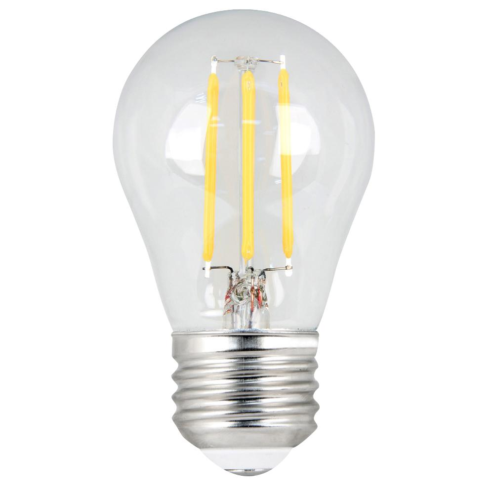 40W Equivalent Daylight A15 Dimmable Clear Filament LED Medium Base Light