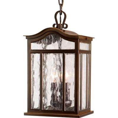 Meadowlark Collection 3-Light Outdoor Oil-Rubbed Bronze Hanging Lantern