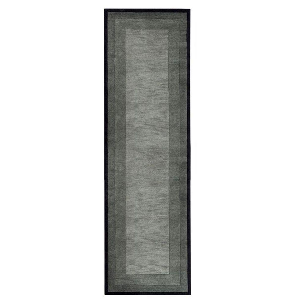 Home Decorators Collection Karolus Gray and Black 2 ft. 6 in. x 10 ft. Runner