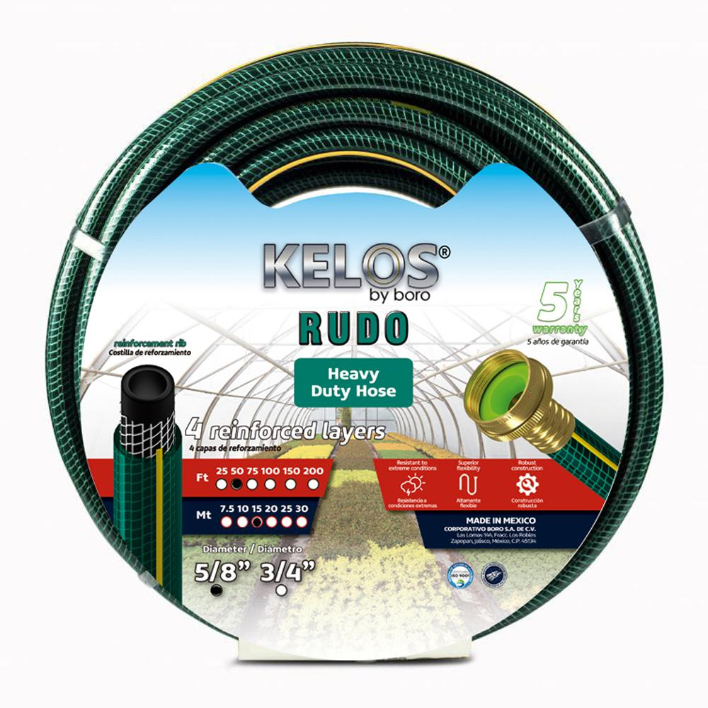 Kelos Rudo 5/8 in. Dia x 50 ft. Heavy-Duty Garden Hose