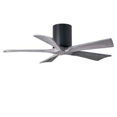 Irene 42 in. Indoor/Outdoor Matte Black Ceiling Fan with Remote Control and Wall Control