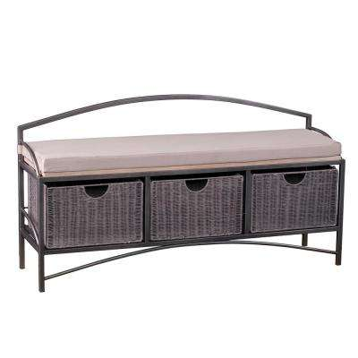 Markus Gray-Wash Finish Storage Bench