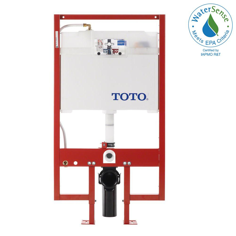 TOTO In-Wall 0.9/1.6 GPF Dual Flush Toilet Tank Only with PEX Supply ...