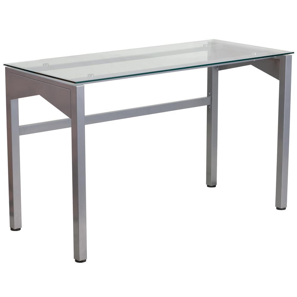 Clear/Silver Computer Desk
