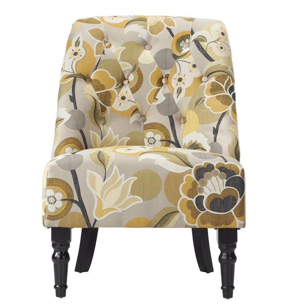 Home Decorators Collection Vincent Garnet Microfiber Tufted Slipper Chair