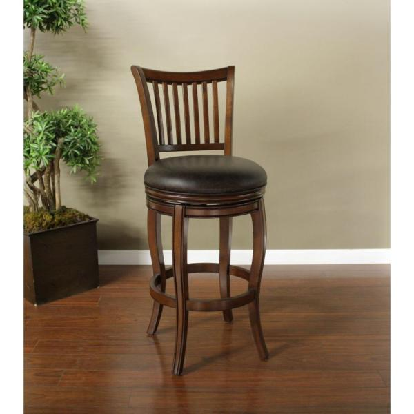 American Heritage Maxwell 34 in. Suede Cushioned Bar Stool