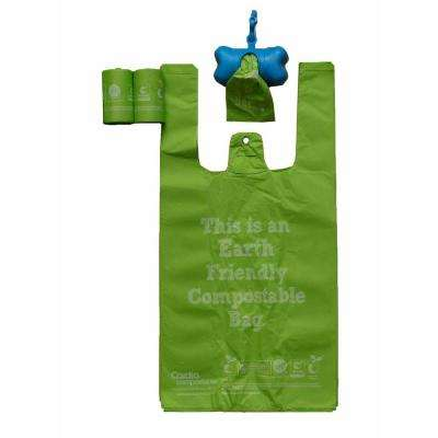 Recyclable and Biodegradable Eco-Friendly Pet Waste Bags from Thermoplastic Starch (2-Pack)