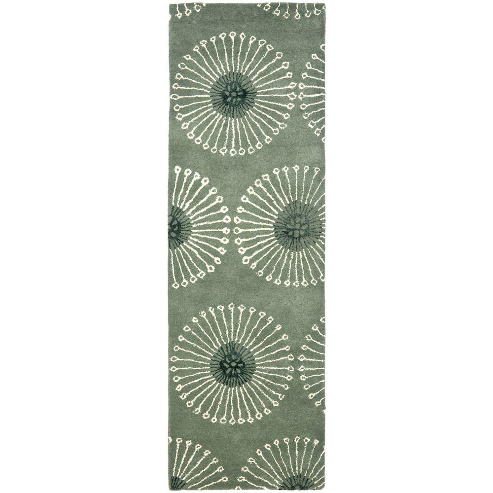 Safavieh Soho Grey/Ivory 2 ft. 6 in. x 10 ft. Runner