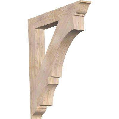 5.5 in. x 48 in. x 42 in. Douglas Fir Balboa Traditional Smooth Bracket