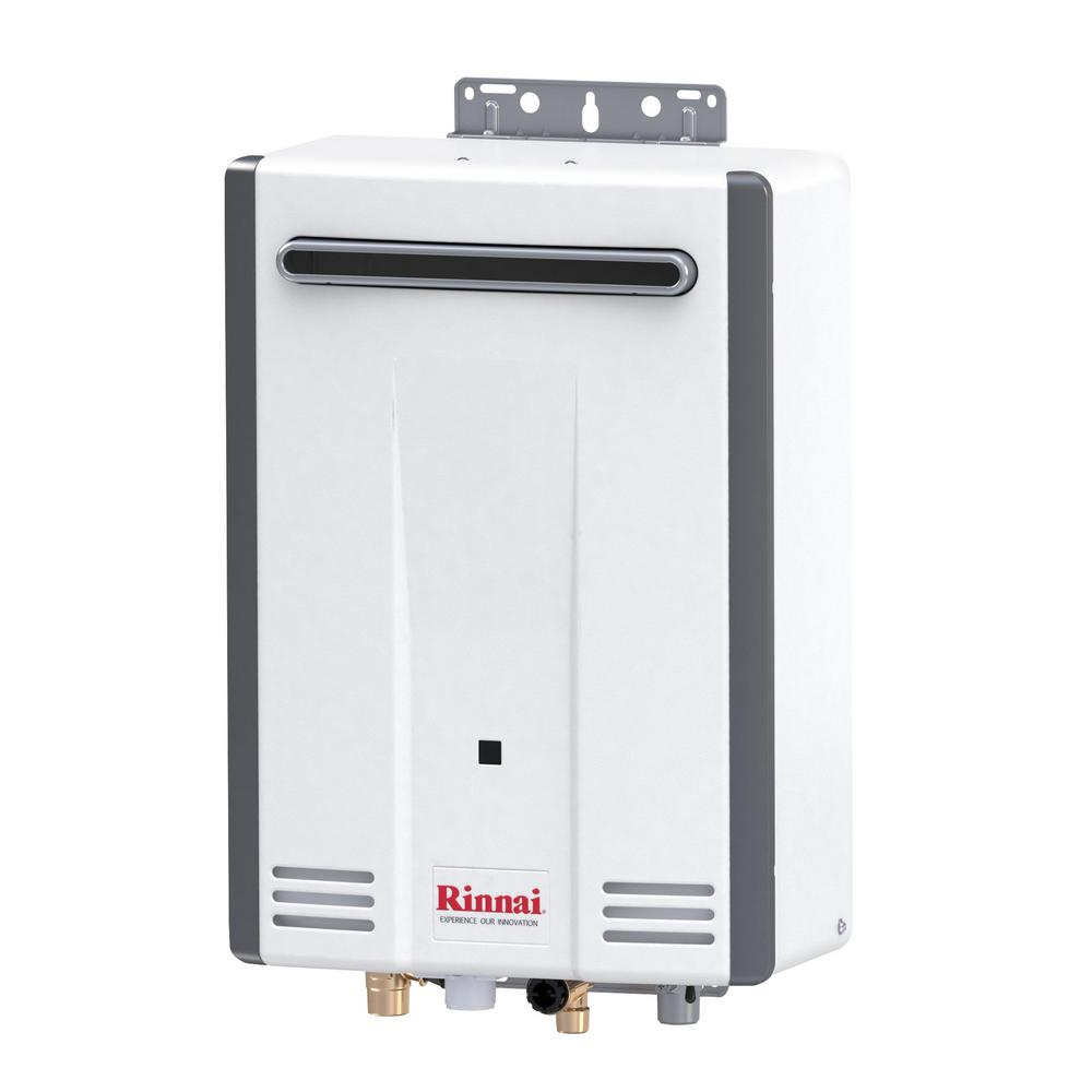rinnai value series outdoor 5 3 gpm residential 120 000 btu natural gas tankless water heater. Black Bedroom Furniture Sets. Home Design Ideas