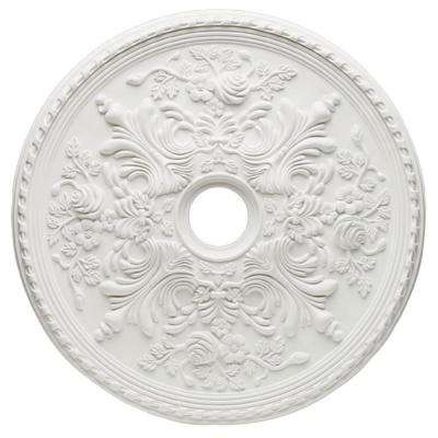 28 in. White Cape May Ceiling Medallion