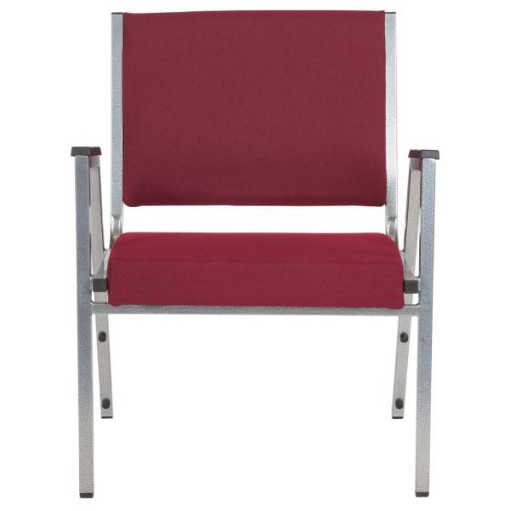 Flash Furniture Brown Fabric Stack Chair Cga Xu 240175 Br Hd The Home Depot