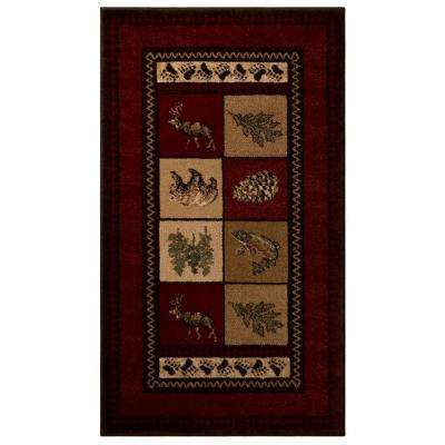 Smokey Mountain Red 2 ft. x 3 ft. 5 in. Accent Rug