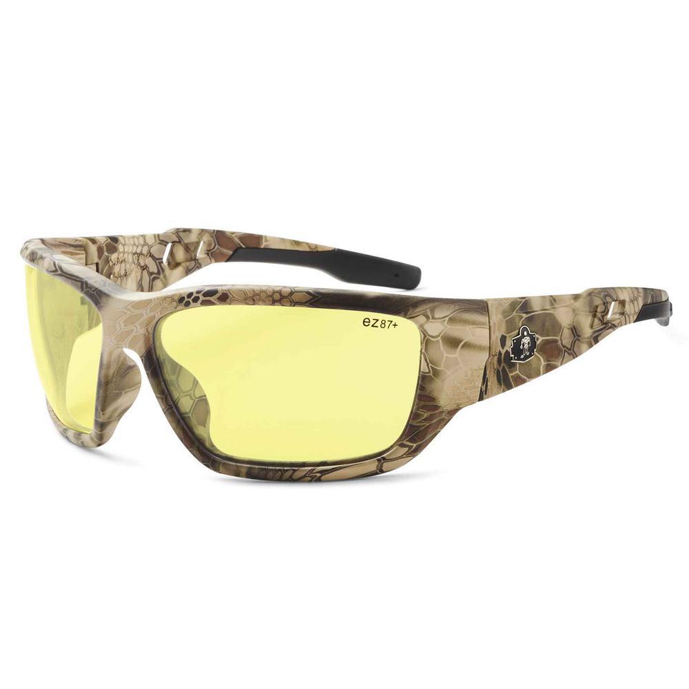 Skullerz Baldr Kryptek Highlander Safety Glasses, Tinted Lens - ANSI Certified