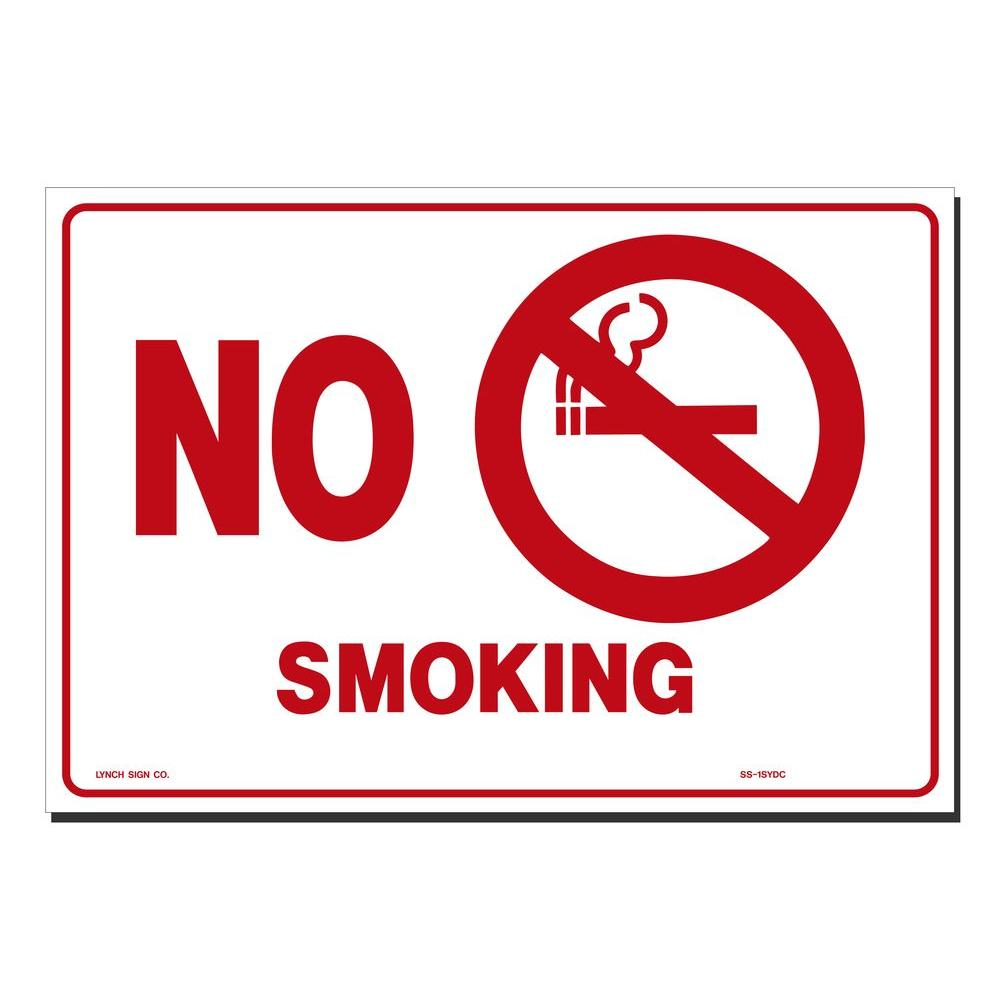Lynch Sign 14 In X 10 In Decal Red On White Sticker No Smoking