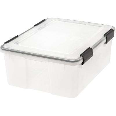 30 Qt. Weather Tight Storage Box in Clear